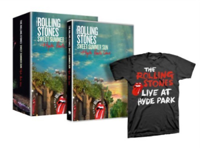 """THE ROLLING STONES """"Sweet Summer Sun"""" Hyde Park Live DVD+T-SHIRT Limited Edition"""