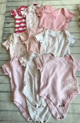 Baby Girls Clothes Bundle 3-6 Months - Babygrows / Vests Tops