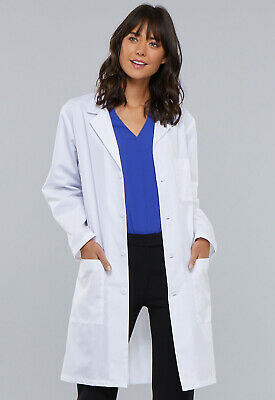 """White Cherokee 40"""" Unisex Lab Coat 1346 WHT, 1346A Antimicrobial WHTD"""