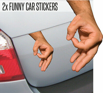 Funny Circle Game Finger Hand Car Sticker Decal Graphic JDM EURO Graphic Van