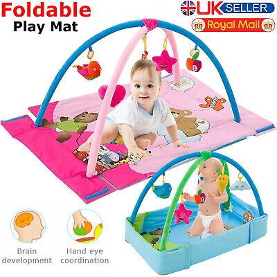 Baby Gym Play Mat Kids Activity 4 in 1 Music Piano Game Foldable Soft Nest Rug