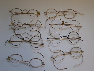Job Lot of Vintage Pince Nez Gold Plated Glasses Spectacles Ref#13