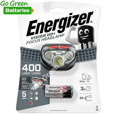 Energizer Vision HD+ Focus LED Bright Head torch lamp light 300 Lumens camping