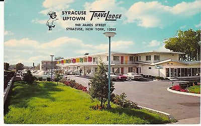 "Syracuse NY  ""Syracuse Uptown  TraveLodge"" c1968 Postcard New York *FREE US SHIP"