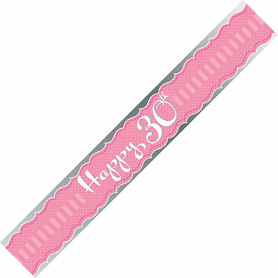 """Sash """"Happy 30th"""" Female Birthday Party Pink Wearable"""