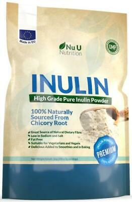 Inulin High Grade Prebiotic Fibre Powder 1kg from all Natural Chicory
