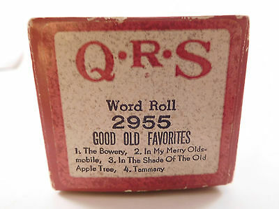 GOOD OLD FAVORITES (4 SONGS) - QRS Player Piano Word Roll 2955 - XLNT CONDITION