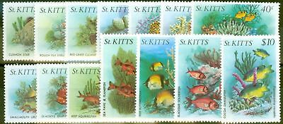 St Kitts 1984 Marine Life set of 14 SG143-156 V.F MNH
