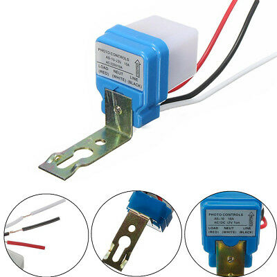 Automatic Auto On Off Street Light Switch Photo Control Sensor for AC/DC 12/220V
