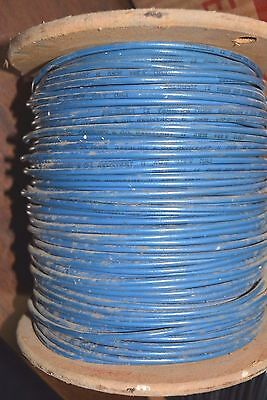 NEW 500' Columbia Wire 12 AWG Solid Copper 600V THHN/THWN Blue Oil Resistant NOS