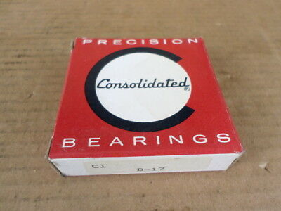 Consolidated Bearings 51203 New in Box Thrust Ball Bearing