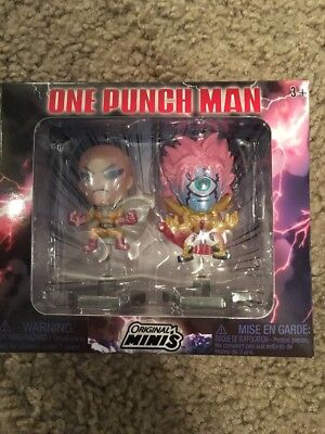 One Punch Man 2-Pack Figure Set- Loot Anime Exclusive- Original Minis- BRAND NEW