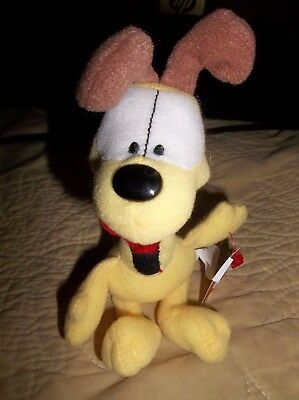 """Ty Beanie Babies-Garfields Odie """"an Ode To Odie"""" Mini Approx. 7"""" Tall-Dated 2006"""