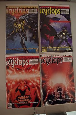 CYCLOPS # 1 2 3 4 complete set of X-Men Icons series Marvel Vaughn & Palmiotti