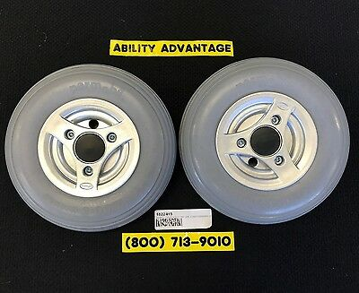 2 - PERMOBIL SOLID CASTERS, TIREs & SPLIT RIMs, BEARINGS - 210 X 65 (2.50-3) NEW