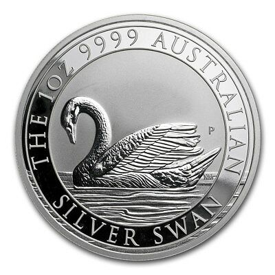 2017 Perth Mint Australia Silver Swan 1 oz .9999 Silver Coin 25K Limited Mintage