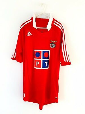 Benfica Home Shirt 2007. Medium. Adidas. Red Adults Football Top Only M.