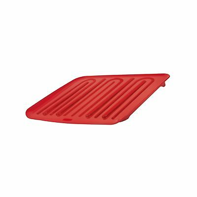 Rubbermaid Antimicrobial Drain Board Red Large (FG1182MARED)
