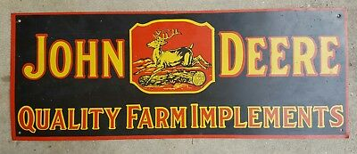 John Deere Quality Farm Implements Metal Sign