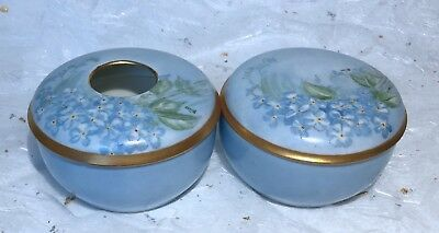 Antique Set German Porcelain Trinket Box/pot/jar/box & Hair Receiver~Germany~