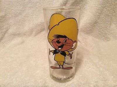 Vintage 1973 Pepsi Collector Clear Glass Speedy GONZALES Warner Bros AA