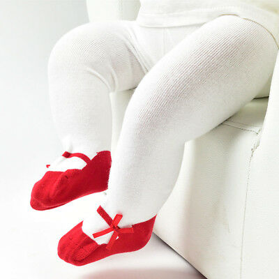 Newborn Baby Infants Girls Cute Bow Cotton Elastic Stockings Tights Pantyhose