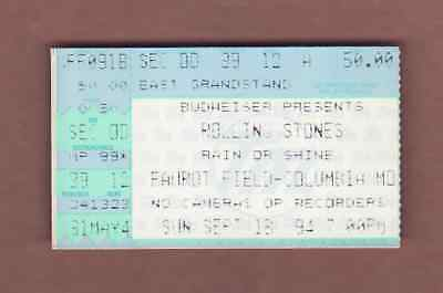 (Ticket Stub) ROLLING STONES - September 18, 1994 Faurot Field, Columbia MD