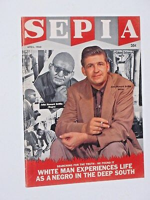 SEPIA MAGAZINE- April 1960,  84 pages,  very good condition,  African American