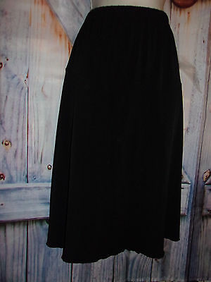 Duo women's size M Black Pull on Maternity A-line skirt