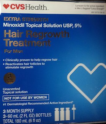 CVS Hair Regrowth Treatment For Men Easy to Use 5% Minoxidil topical solution