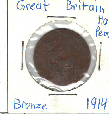 Great Britain 1914 Half Penny Coin