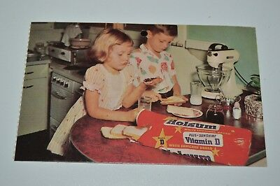 Nice Vintage HOLSUM White Bread Peanut Butter & Jelly Kids Funny Postcard 1980