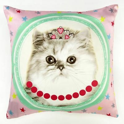 Arthouse Hall Of Fame Cat With Tiara Double-Sided Cushion Bedroom Accessories