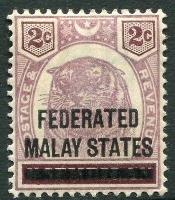 FEDERATED MALAY STATES-1900 2c Dull Purple & Brown Sg 2 MOUNTED MINT V19835