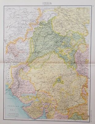 Map of North West India, Afghanistan & Kashmir. 1898 ASIA Citizens Atlas