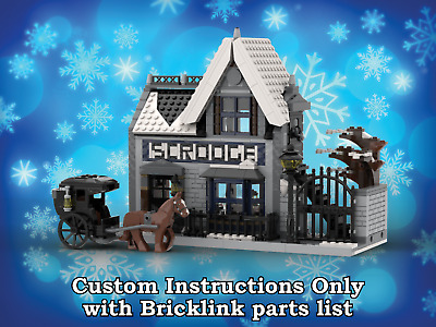 LEGO Winter Village Scrooge's INSTRUCTIONS ONLY for LEGO Bricks (Christmas)