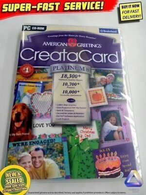 American Greetings CREATA CARD 8 Platinum, PC Windows Software maker creator DIY