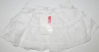 girls chicco plain white cotton and linen skirt age 3 months