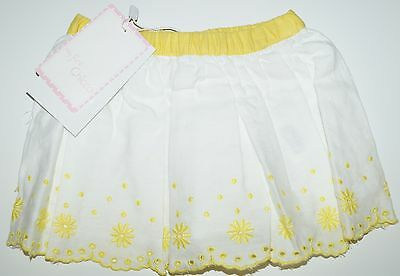 girls chicco white cotton and linen skirt