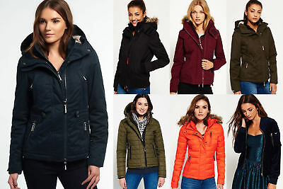 New Womens Superdry Jackets Selection 2 - Various Styles & Colours 0711