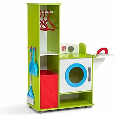 Step2 Pretend Play Clean Sweep Wood Laundry Center Playset Fun For Kids