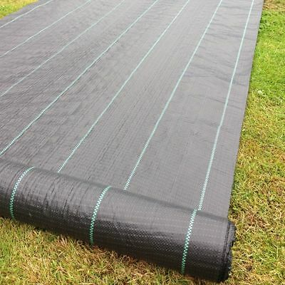 *** FREE PEGS *** 4m Wide 100gsm Yuzet Weed Control Fabric Ground Cover Membrane