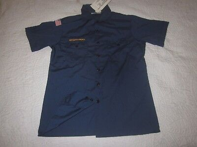 BSA CubScout New with Tags Blue Uniform Shirt Youth X-Large SS Made in USA