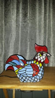 Tiffany Style Leaded Stain Glass Chicken Light