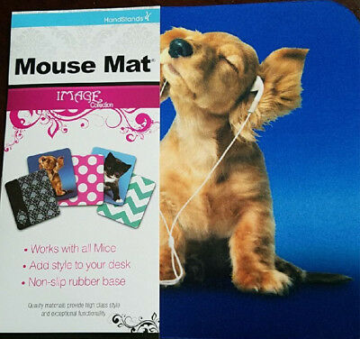 New Music Listening Dog Mouse Pad Mats Mousepad Cute Puppy Mouse Pad