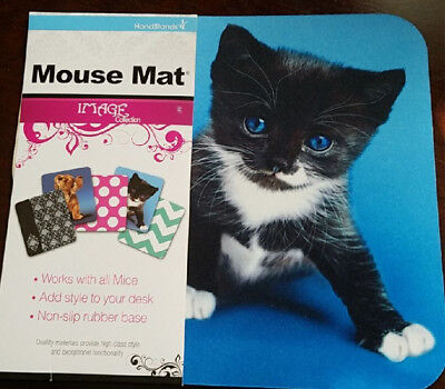 Cute Kitty Cat Mouse Pad Blue Eyed Kitty Mousepad