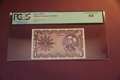 MPC $1 Series 681 PCGS Graded  Very Choice New 64 Uncirculated