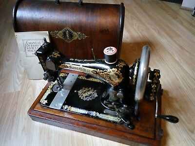 Antique Singer Sewing Machine with original domed case 1800s