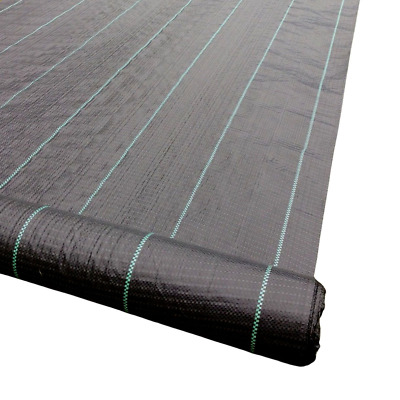 2m Wide HEAVY DUTY 100g Yuzet Weed Control Fabric Ground Cover Membrane Mat