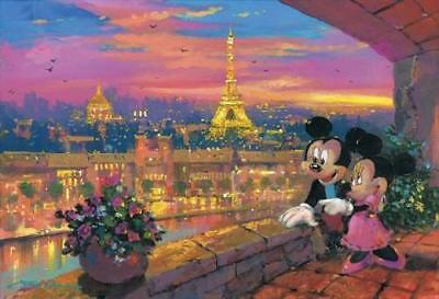 """A Paris Sunset"" by James Coleman Featuring Mickey Mouse and Minnie Mouse in Par"